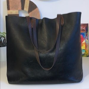 Gently worn Madewell transport tote large, leather